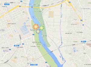 葛飾花火大会マップ